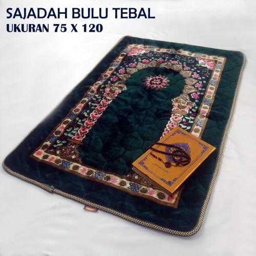 Foto Produk TEBAL DAN BESAR sajadah turki /sajadah bulu / uk 80 x 120 cm - Merah dari ZHAFIRA.ID