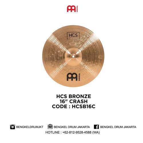 "Foto Produk Meinl Cymbal HCS BRONZE 16"" CRASH - HCSB16C dari Bengkel Drum Jakarta"