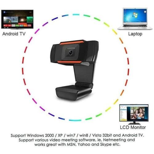 Foto Produk X8 HD 480P Webcam Autofocus Web Camera Cam For PC Laptop Desktop dari 4acc