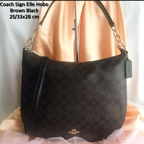Foto Produk Ready Coach Elle Hobo Signature Brown Black dari ferliarj16