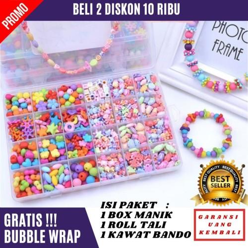 Foto Produk Mainan Anak Perempuan Manik Manik Membuat Gelang Kalung KARDUS KECIL dari Madani Grosir