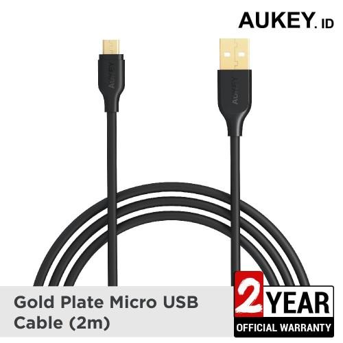 Foto Produk Aukey Cable 2M Micro USB 2.0 Gold Plate - 500161 dari AUKEY