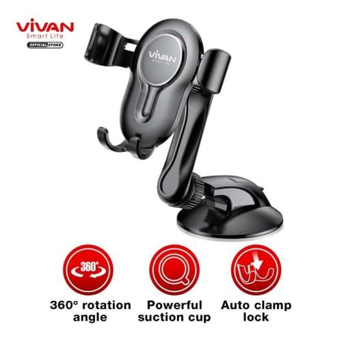 Foto Produk VIVAN Car Holder Universal CHS06 Rotasi 360° Pengunci Otomatis dari VIVAN OFFICIAL SHOP