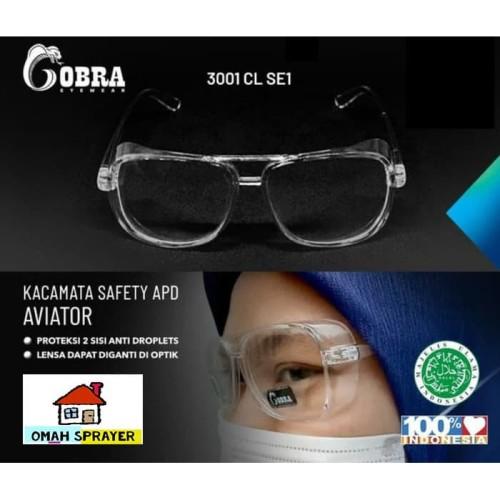 Foto Produk Kacamata Safety APD Anti Droplet COBRA 3001 CL SE1 Halal dari Omah Sprayer Pandaan