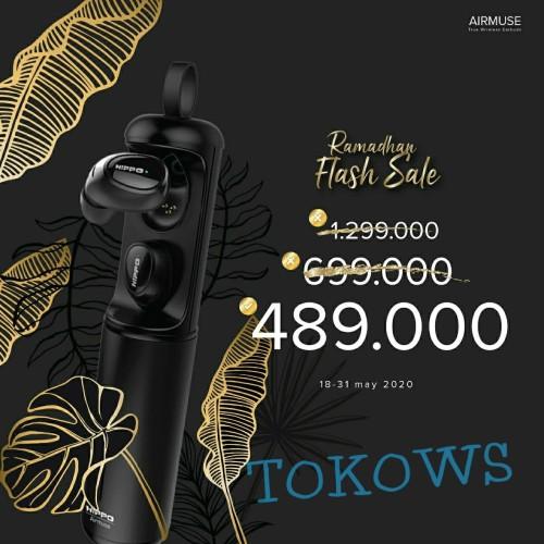 Foto Produk Handsfree Hippo AIRMUSE Bluetooth V.50 dari TOKOWS