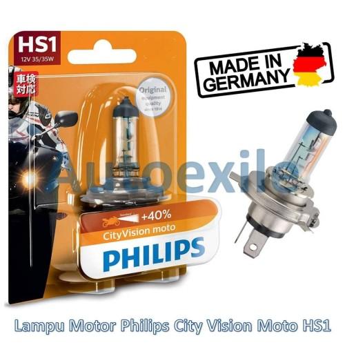 Foto Produk Philips City Vision Moto HS1 12V 35/35W Orange (Lampu Motor Cityvision dari Autoexile