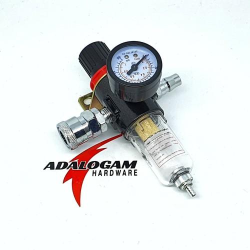 Foto Produk PNP Single Filter Air Regulator 1/4 Inch - Filter Udara Kompresor dari adalogam