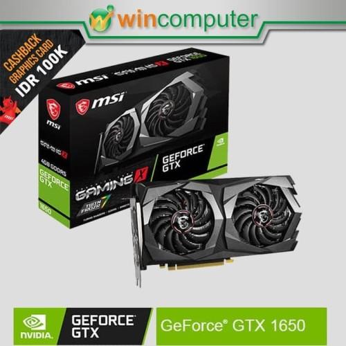 Foto Produk MSI Geforce GTX 1650 Gaming X 4G dari Win Computer