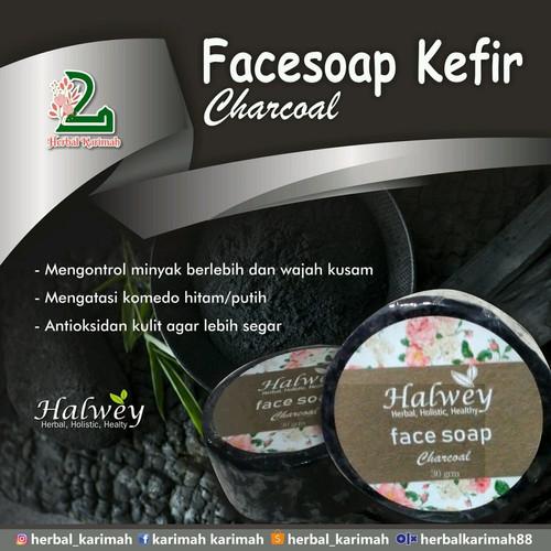 Jual Halwey Facesoap Kefir Sabun Muka Kefir Charcoal Kota Yogyakarta Herbal Karimah Tokopedia