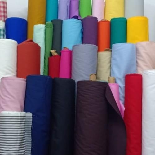 Foto Produk kain katun meteran katun jepang import ori motif polos dari afia kain katun
