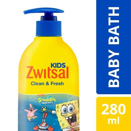 Foto Produk Zwitsal Kids Bubble Bath Blue Clean & Fresh 280Ml dari Unilever Official Store