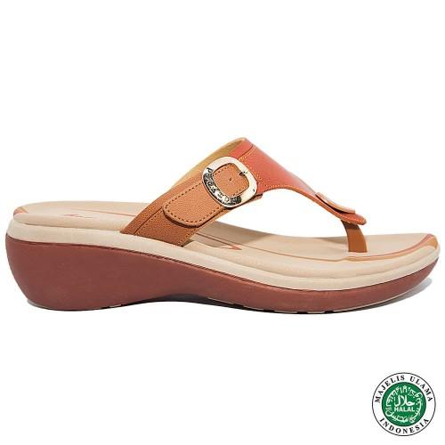 Foto Produk Homyped Zea N51 Oranye/Bata Sandal Wedges Wanita - 36 dari Homyped Official