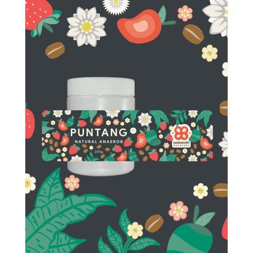 Foto Produk BIJI KOPI ARABIKA - PUNTANG NATURAL ANAEROB - SPECIALTY ARABICA COFFEE - BIJI UTUH dari Narakopi Roastery