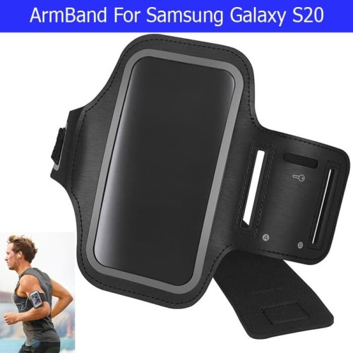 Foto Produk Samsung Galaxy S20 Armband Arm Band Sarung Lengan Lari Jogging Fitness - Hitam dari Maxxi Computer