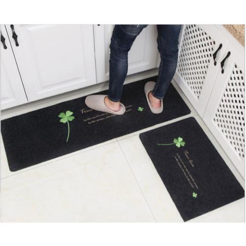 Foto Produk Door Mat Trendy SET / Keset Rumah Dapur Kamar Anti Selip - True Love Grey dari summerlilyshop