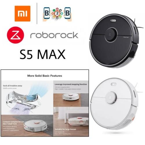 Foto Produk ROBOROCK S5 MAX - Robot Vacuum and Mop Cleaner - Hitam dari b2b mobile