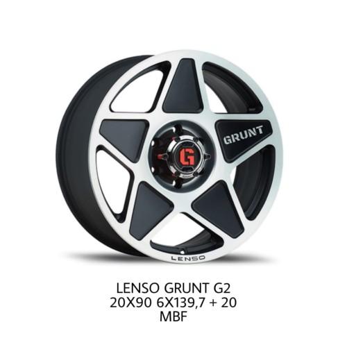 Foto Produk Velg Lenso Grunt G2 20X90 6X139,7+20 WARNA MBF MATTE BLACK dari Lenso Indonesia