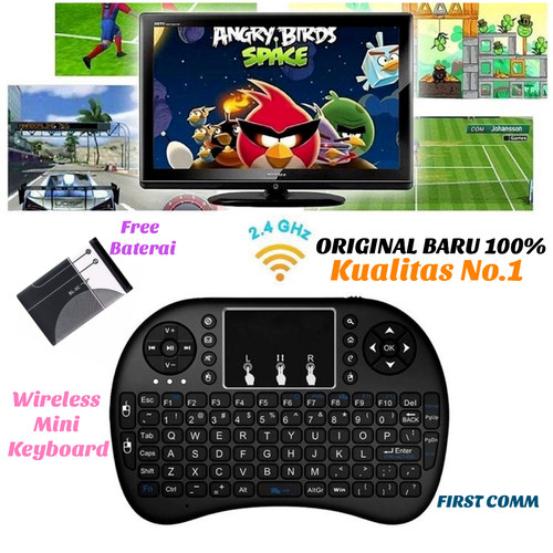 Foto Produk Mini Keyboard Touchpad Wireless i8 2.4G Original For PC Android TV BOX dari First Comm