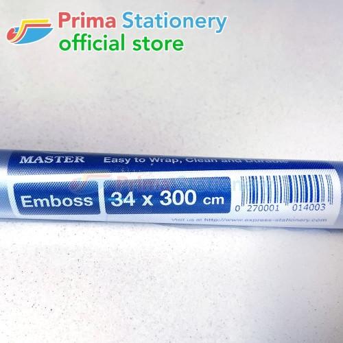 Foto Produk Master Sampul Buku Emboss 34x300cm - Plastik Doff Book Cover - 1 rol dari Prima Stationery