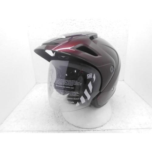 Foto Produk Cargloss CX Cargloss Helm Half Face - RED Maroon - Merah dari Helm Cargloss