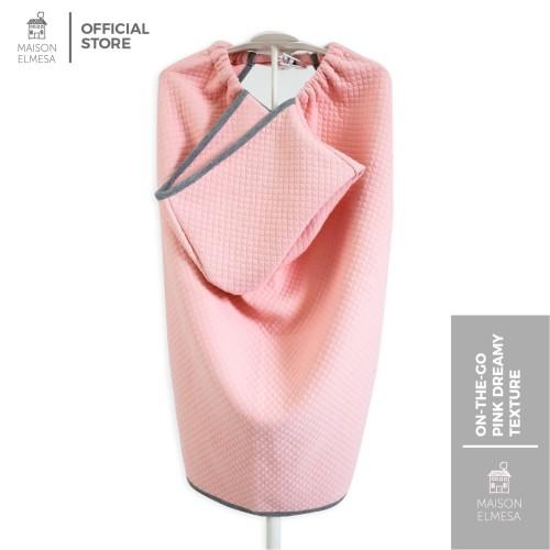 Foto Produk Maison Elmesa Baby Blanket Selimut Bayi On The Go Pink Dreamy Texture dari MAISON ELMESA