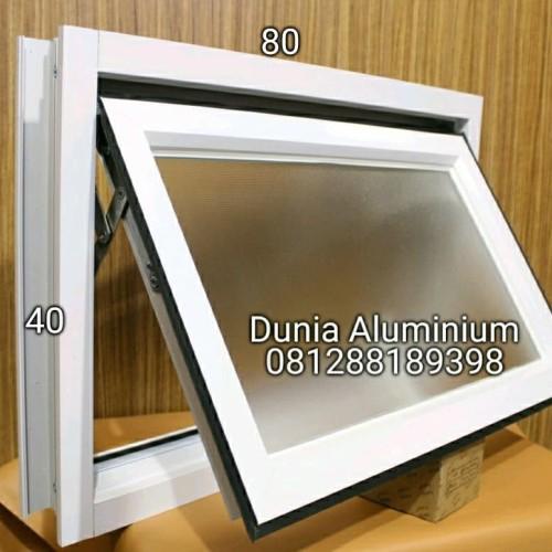 Foto Produk Jendela Bovenli Aluminium Bouven Bouvenlight L40 x T80 - Putih dari Dunia aluminium