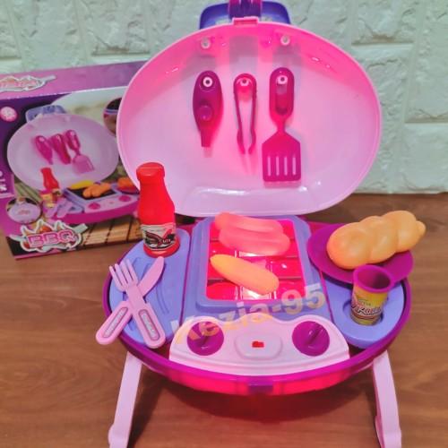 Foto Produk Mainan Masak Masakan Barbeque Koper - BBQ koper dari KEZIA-95