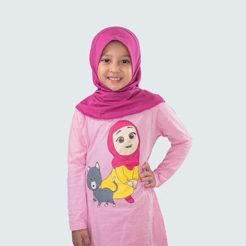 Foto Produk Nussa - Dafiya Kaos Anak (Lengan Panjang) - XXXL dari Nussa Official