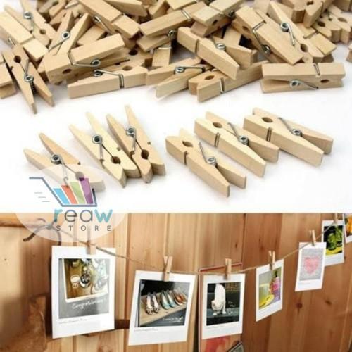 Foto Produk Photo Clip / Klip Foto / Foto Klip / Jepitan Foto Kayu Polos dari Reaw Store