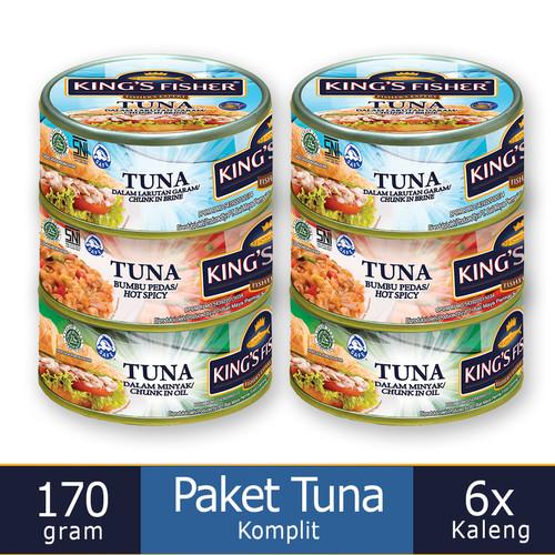 Foto Produk Paket Tuna Kaleng Komplit King's Fisher semua rasa 170 gram dari Kings Fisher