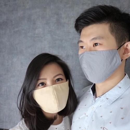 Foto Produk Masker Kain Katun 3 PLY GRADE A Full Cotton anti Debu Bakteri Earloop dari Rich Supply