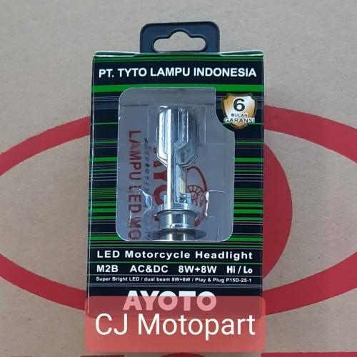 Foto Produk LAMPU MOTOR DEPAN AYOTO TYTO LED MOTOR BEBEK M2B GARANSI 6 BULAN ORI dari CJ Motopart