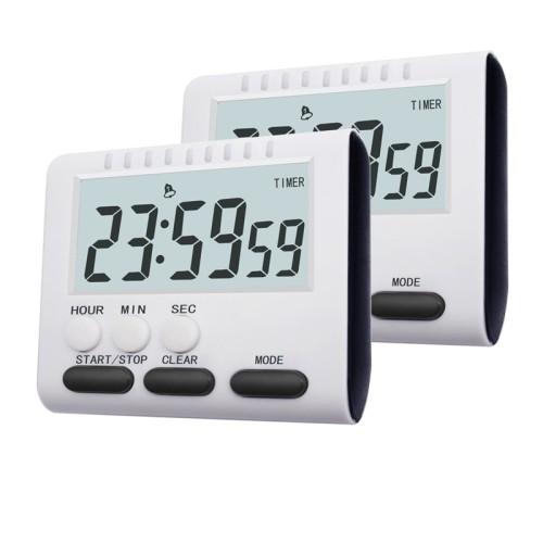 Foto Produk JS Timer Dapur Magnetic Stand Kitchen Countdown Clock Black dari WATERGROUND COFFEE