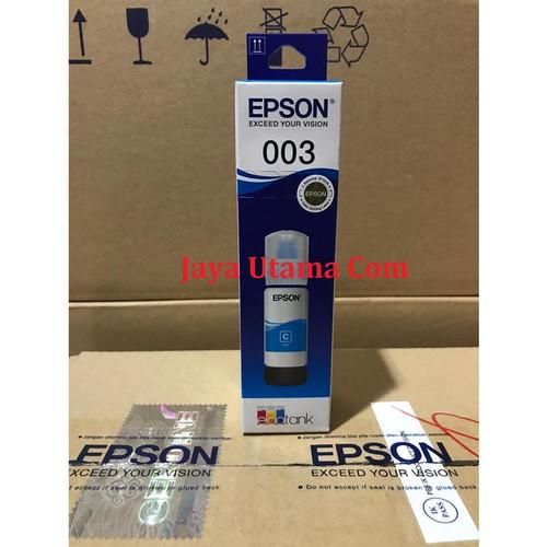 Foto Produk Tinta Epson 003 Original Refill Ink Printer L3110 L3150 - Biru Muda dari Jaya Utama Com