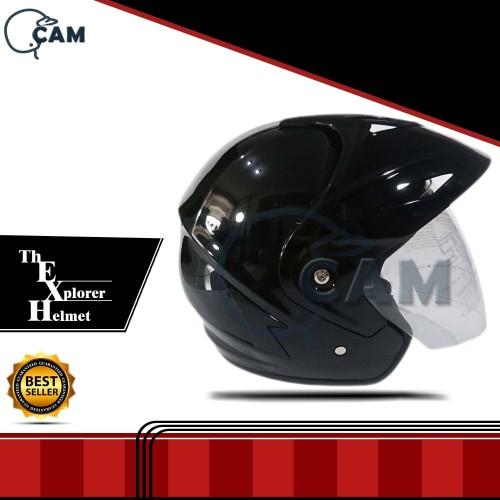 Foto Produk Helm Motor Jp-5 black gloss SNI polos dari Boss helm
