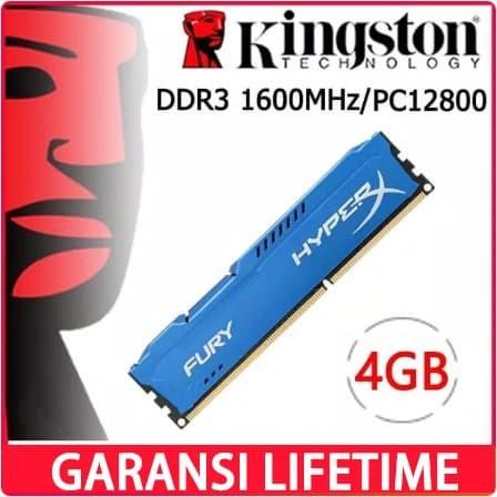 Foto Produk RAM KINGSTON HYPER X FURY GAMING DDR3 4GB PC 12800 1600Mhz LONGDIMM dari Smith Tom