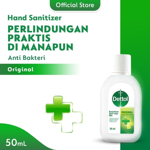 Foto Produk Dettol Hand Sanitizer Original 50 ml screw cap bottle dari Dettol Official Store