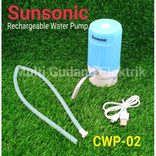 Jual Pompa Air Galon Elektrik Cas Sunsonic Cwp 02 Water Pump Portable Kota Tangerang Multi Gudang Elektrik Parabola Tokopedia
