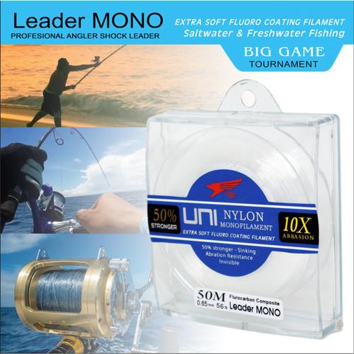 Foto Produk Senar Leader MONO Uni Falcon 50 meter - 0.28mm 12lb dari Falcon Indoesia