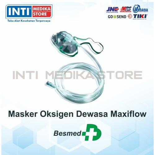 Foto Produk BESMED - Maxiflow Masker Oksigen Dewasa / Maxiflow Oxygen Mask Adult dari INTI MEDIKA STORE