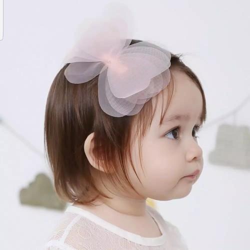 Foto Produk Jepit Rambut Anak Motif Pita Transparan Lucu Imut Murah - Pink - Pink dari Star Gallery