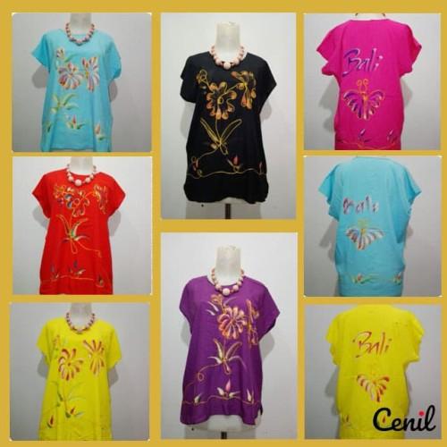 Foto Produk Baju Bali / Atasan Lukis Bordir Bali / Baju Lukis Adem Murah - Kuning dari cenil123