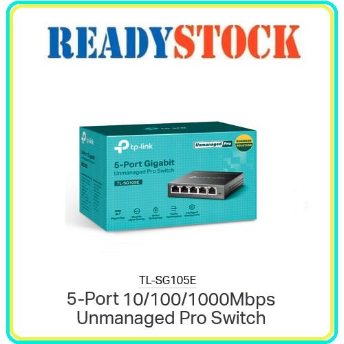 Foto Produk TPLINK TL-SG105E Switch 5 Port Gigabit Easy Smart Managed dari READY STOCK JARINGAN