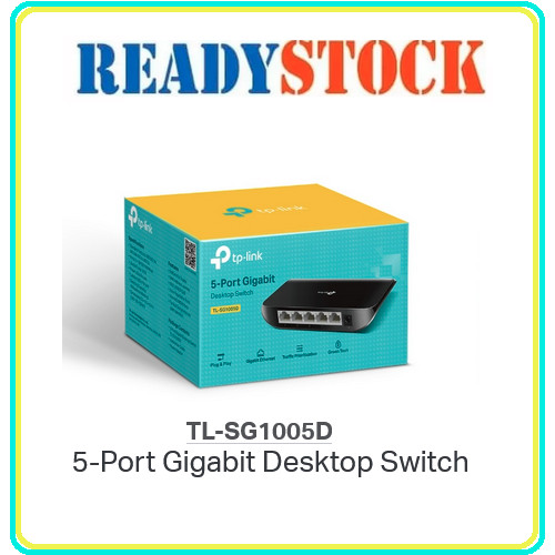 Foto Produk TPLINK TL-SG1005D Switch 5 Port Gigabit Plastic dari READY STOCK JARINGAN