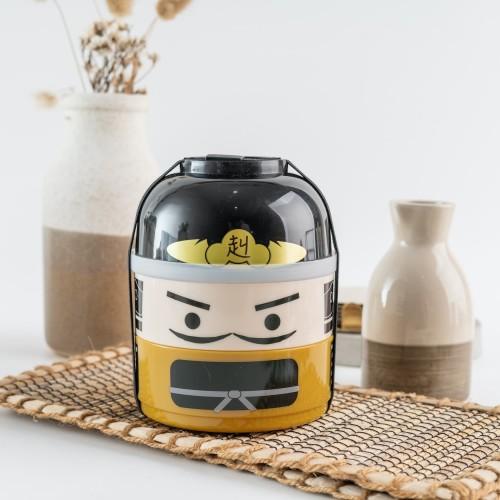 Foto Produk UCHII Japanese Bento Bowl Lunch Box   Kotak Makan Bekal Rantang Susun dari uchii store
