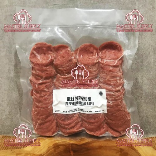Foto Produk BEEF PEPPERONI PIZZA 500 GR / TOPPING DAGING SAPI PIZZA ENAK / HALAL dari Master Supply