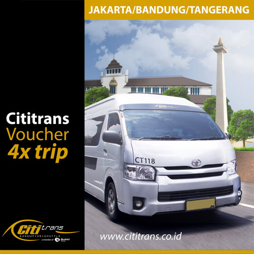 Foto Produk Voucher Langganan Shuttle Cititrans Travel Jakarta/Bandung/Tangerang - 4x trip dari Cititrans Indonesia