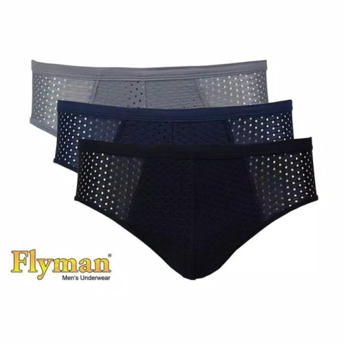 Foto Produk Flyman Underwear Celana Dalam Pria 3 Pcs Maximum Cooling FM 3245 ok - Size M dari hokky shops