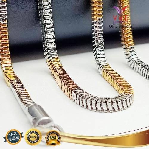 Foto Produk Kalung Titanium Asli Belut Kotak 70cm - VeE Kalung Pria Wanita dari Vee Jewelry