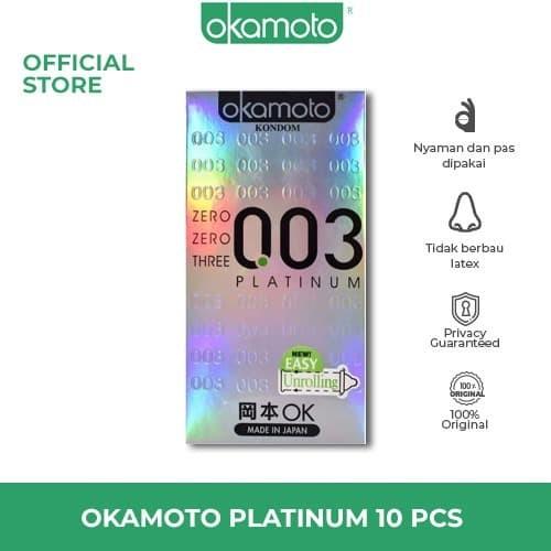 Foto Produk OKAMOTO KONDOM PLATINUM - 10 dari Okamoto Official